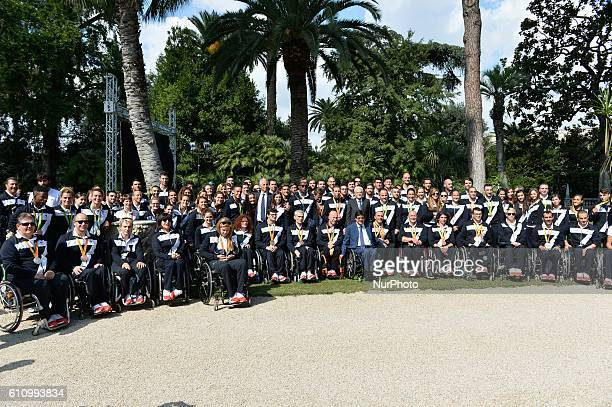 Group photo during redelivery of the Tricolor ceremony after the Olympic Games Rio 2016 in Rome Italy 28 september 2016