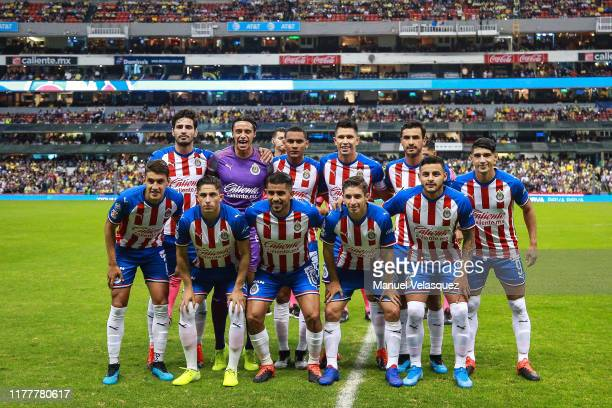 Group photo of Chivas prior the 12th round match between America and Chivas as part of the Torneo Apertura 2019 Liga MX at Azteca Stadium on...