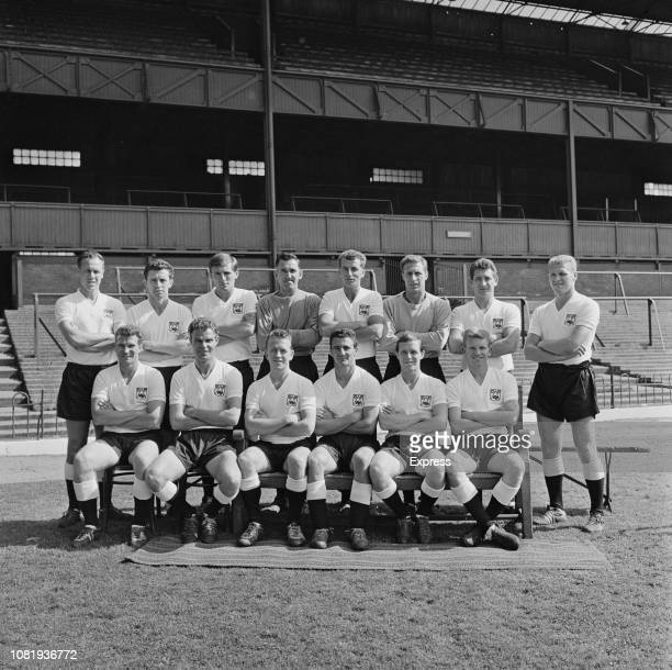 Group photo of English soccer team Derby County FC UK 16th August 1963