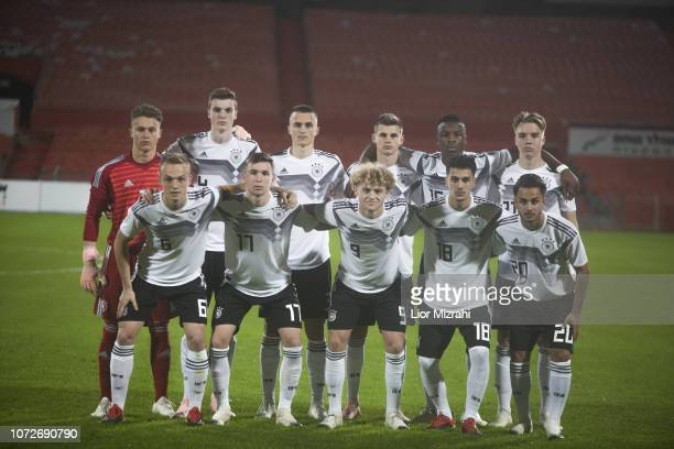 A group photo of Germany before the U18 final match with Israel at the Winter Tournament on December 13 2018 in Ramat Gan Israel