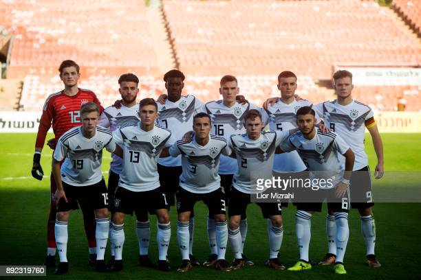 A group photo of Germany before the U18 final match with Israel at the Winter Tournament on December 14 2017 in Ramat Gan Israel
