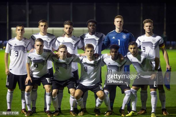 A group photo of Germany before the U18 friendly match with Serbia on December 12 2017 in Shefayim Israel