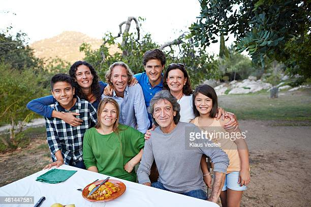 group photo of multigenerational family - klaus vedfelt mallorca stock pictures, royalty-free photos & images