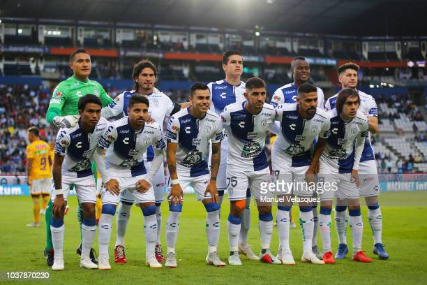 Group photo of Pachuca prior the 9th round match between Pachuca and Tigres UANL as part of the Torneo Apertura 2018 Liga MX at Hidalgo Stadium on...
