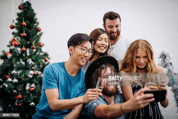 Group photo of people during Christmas in Australia