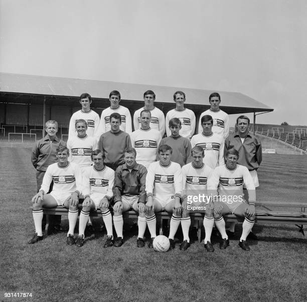 Group photo of Plymouth Argyle Football Club soccer team UK 12th August 1968