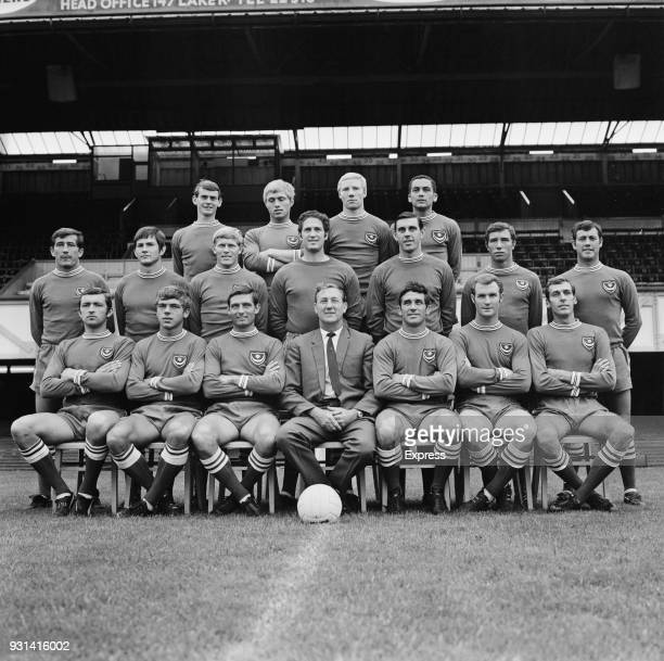 Group photo of Portsmouth Football Club UK 12th August 1968