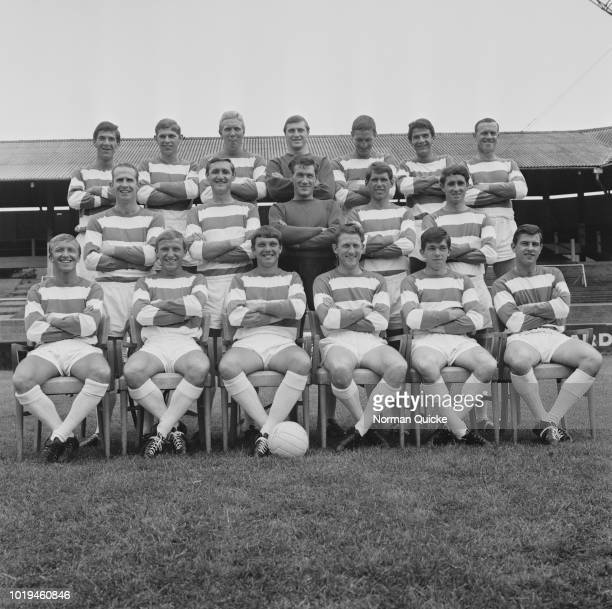 Group photo of Queens Park Rangers FC, London, UK, 28th July 1965.