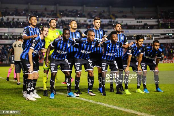 Group photo of Querétaro prior the quarterfinals second leg match between Queretaro and Necaxa as part of the Torneo Apertura 2019 Liga MX at La...