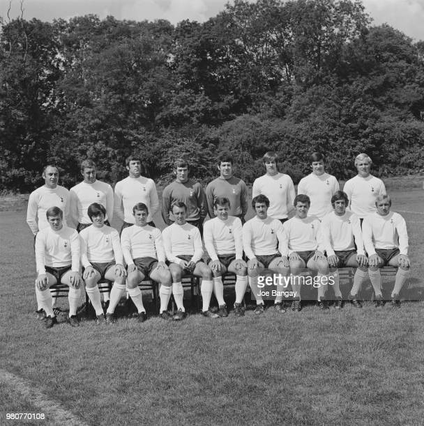 Group photo of soccer team Tottenham Hotspur FC London UK 11th September 1969 they are Alan MulleryCyril Knowles Anthony Want Joe Kinnear Pat...