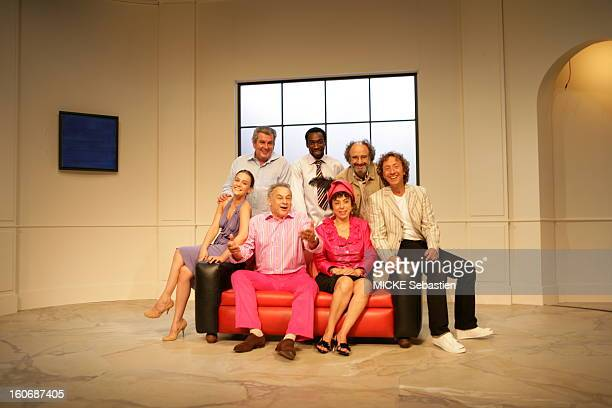 Group photo of the cast of the play 'bonus number' of JeanMarie Chevret at St George Theatre at the forefront of g a dr AnneSophie Germanaz Francis...