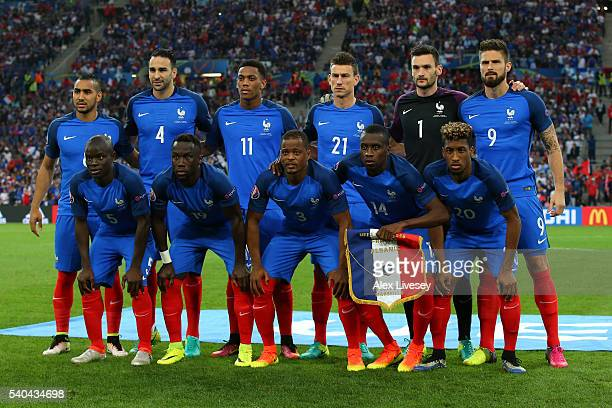 A group photo of the France squad during the UEFA EURO 2016 Group A match between France and Albania at Stade Velodrome on June 15 2016 in Marseille...