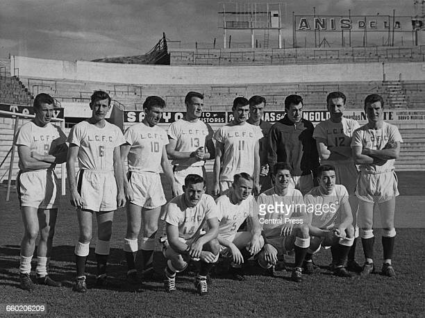 A group photo of the Leicester City FC team taken in Madrid Spain during the first round of the 1961–62 European Cup Winners' Cup 30th November 1961...
