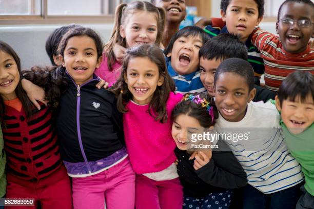 group photo - school children stock pictures, royalty-free photos & images