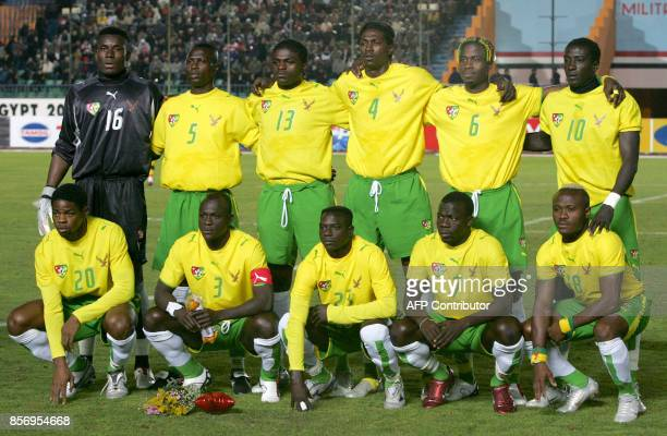 A group photo shows the official formation of the Togo selection prior to the football game played against Angola for the African Nations Cup played...