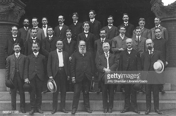Group photograph of Classics and Comparative Philology individuals at Johns Hopkins University Baltimore Maryland 1902 Guernsey Roscoe Wilson Harry...