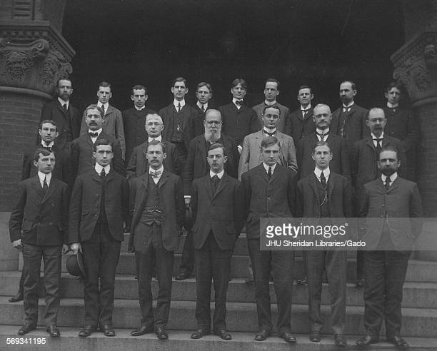 Group photograph of Classics and Comparative Philology individuals at Johns Hopkins University Baltimore Maryland 1903 Scarborough Horatio Paul...