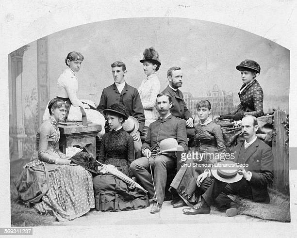 Group photograph of Herbert Baxter Adams and a group of friends Johns Hopkins University Baltimore Maryland 1875