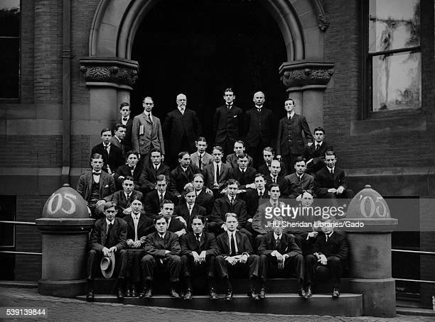 Group photograph of Johns Hopkins University Class of 1905. .