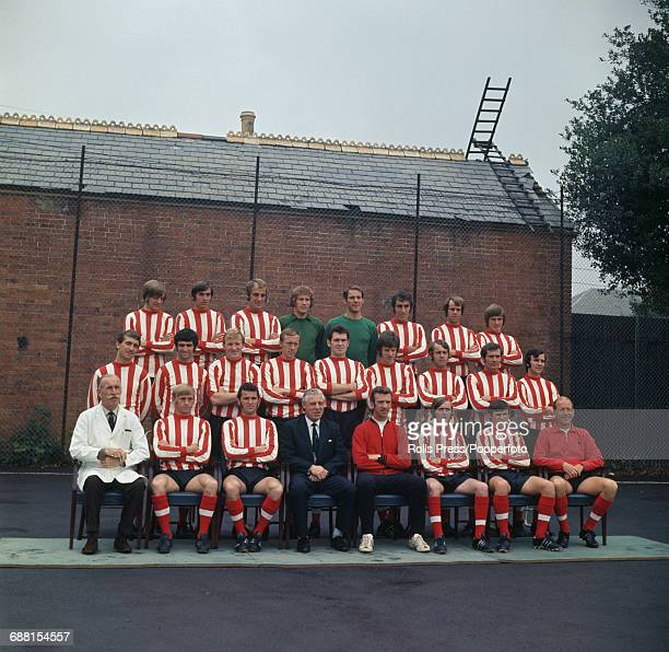 Group photograph of players and officials of Southampton FC posed together in Southampton in 1970 at the start of the 197071 season Back row from...