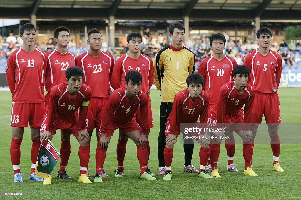 Group Picture of North Korea's national team before a friendly football game against Greece in Altach on May 25, 2010 ahead of their participation to the FIFA World Cup 2010 in South Africa.