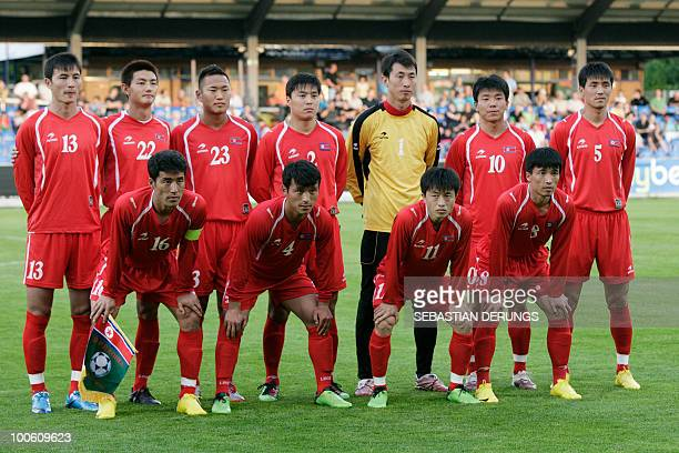 Group Picture of North Korea's national team before a friendly football game against Greece in Altach on May 25 2010 ahead of their participation to...
