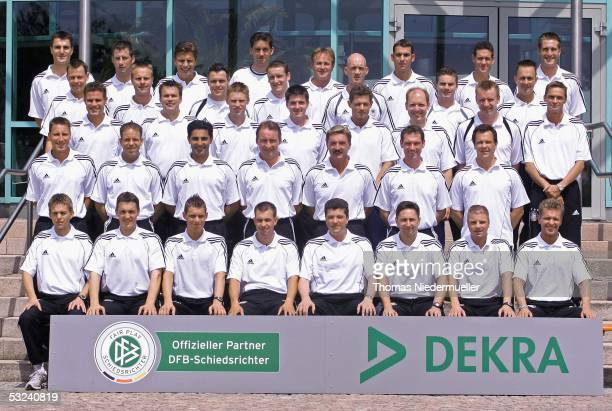 A group picture of the referees during the German Football Association Referee meeting and press conference on July 15 2005 in Altensteig Germany
