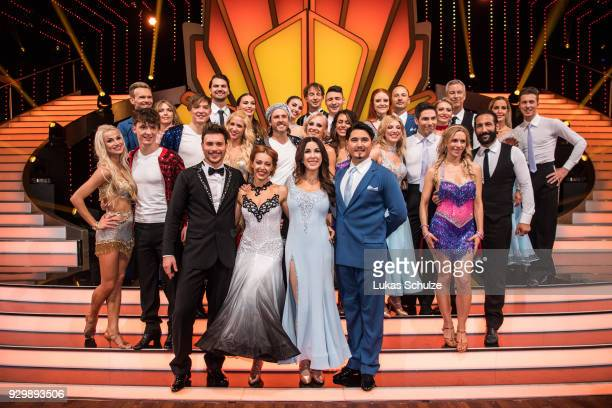 Group picture with all participants on stage after the preshow 'Wer tanzt mit wem Die grosse Kennenlernshow' of the television competition 'Let's...