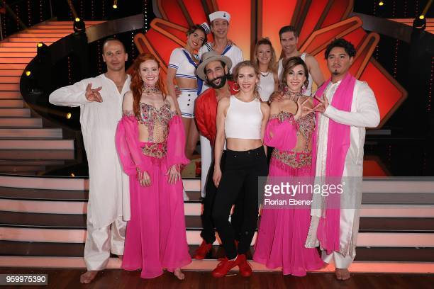 Group picture with all participants on stage after the show during the 9th show of the 11th season of the television competition 'Let's Dance' on May...