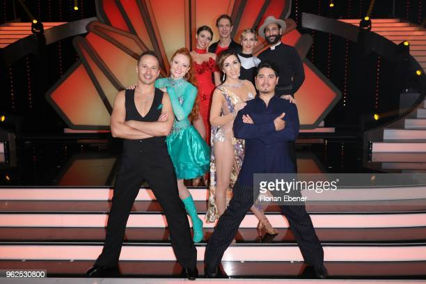 Group picture with all participants on stage after the show during the 10th show of the 11th season of the television competition 'Let's Dance' on...