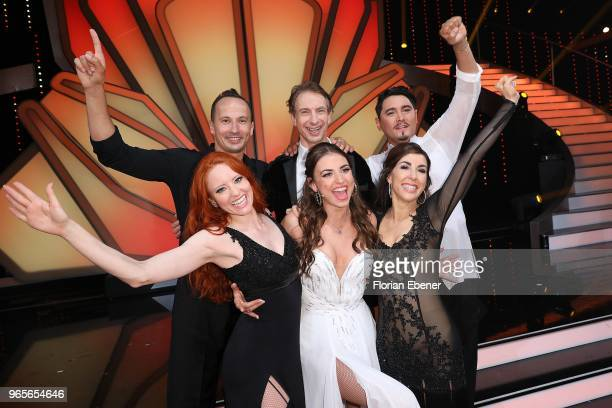 Group picture with all participants on stage after the show during the semi finals of the 11th season of the television competition 'Let's Dance' on...