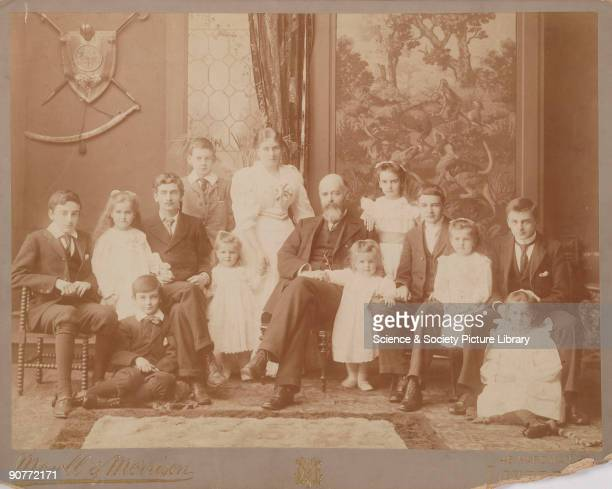 Group portrait by Mowel and Morrison of Sir David Salomons and family Salomons was a pioneer of early motor car development In 1895 he imported the...