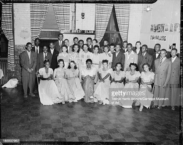 Group portrait gathered in Kay Boys Club Pittsburgh Pennsylvania 1941 Including seated from left Marie Russell Doris Corsey Helen Davis Beatrice Redd...