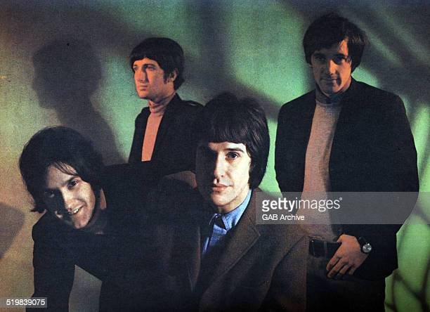 Group portrait if The Kinks circa 1965 LR Dave Davies Pete Quaife Ray Davies Mick Avory