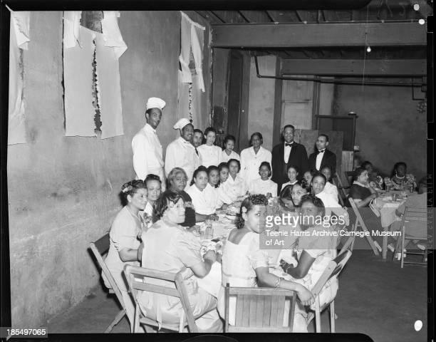 Group portrait including hostesses Bunny Allen Pittsburgh Pennsylvania June 2 1941 Including hostesses Bunny Allen Tula Woodson Odessa Smith Marilla...