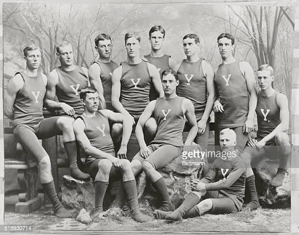 Group portrait of a Yale athletic team