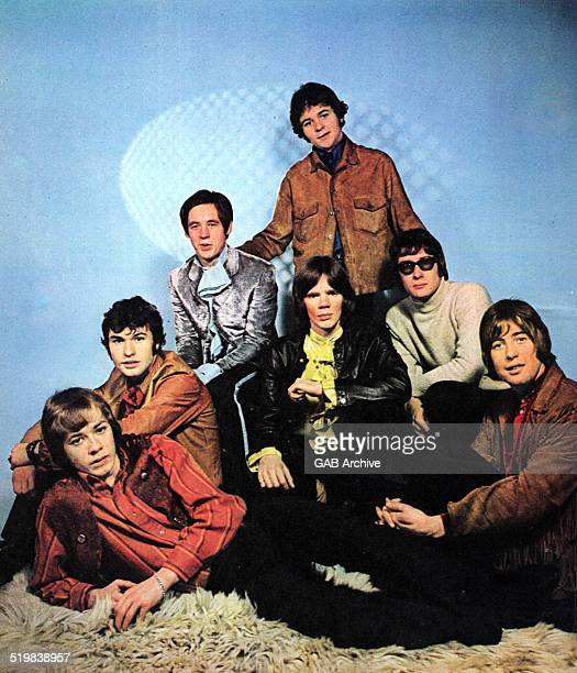 Group portrait of Amen Corner circa 1969 Clockwise from bottom left Neil Jones Clive Taylor Andy FairweatherLow Dennis Byron Allan Jones Mike Smith...