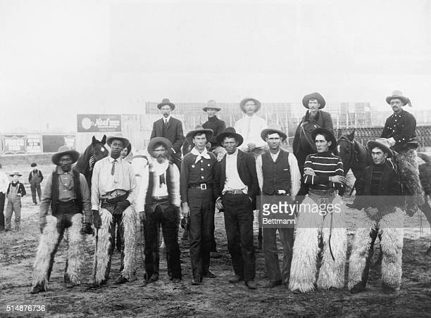 Group portrait of American cowboys Undated photograph
