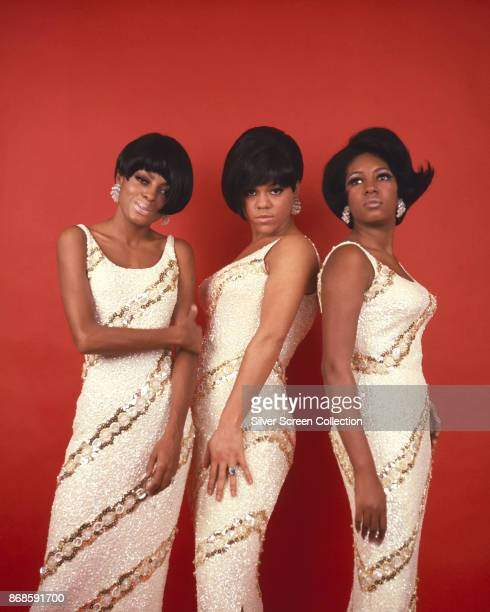 Group portrait of American Pop and Rhythm Blues group the Supremes 1968 Pictured are from left Diana Ross Cindy Birdsong and Mary Wilson They wear...
