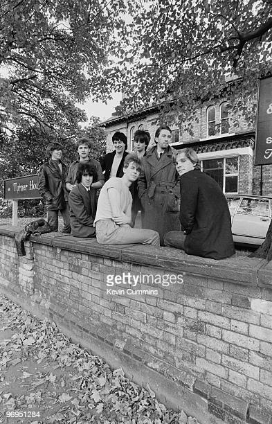 Group portrait of British bands Echo and the Bunnymen and The Teardrop Explodes together taken on October 11 1979