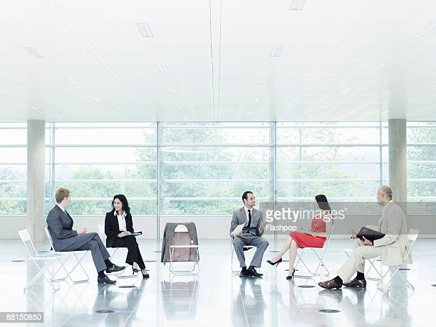 Group portrait of business meeting