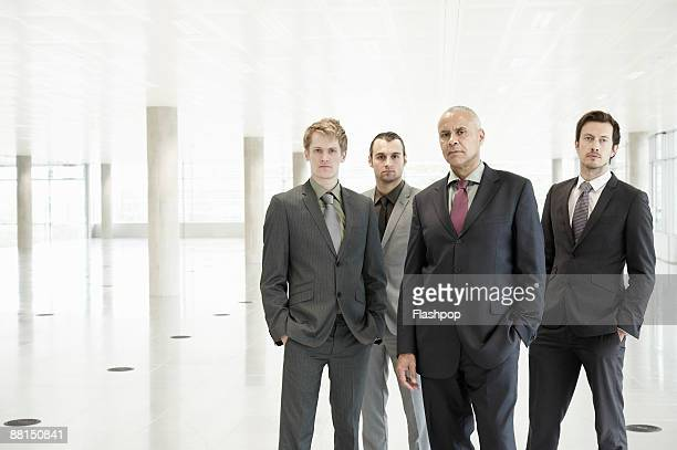 Group portrait of business men