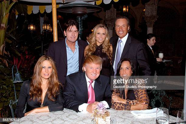Group portrait of clockwise from top left married American actors American actors Charlie Sheen and Brooke Mueller married couple musician John Fiore...