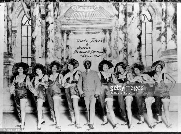 Group portrait of dancer 'Toots Davis and Girls' in 'Roll On' 1923 The show was described as a 'modern Dixie show in 10 scenes and 2 acts'