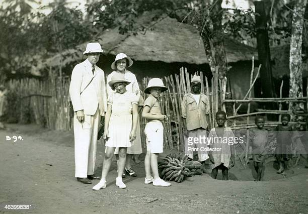 Group portrait of Europeans and locals Sierra Leone 20th century