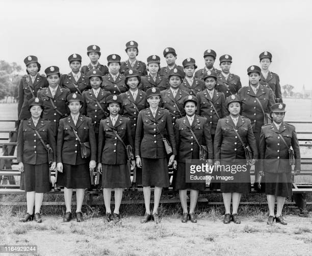 Group Portrait of First African American nurses Assigned to European Theater of Operations during World War II arrive in England August 21 1944