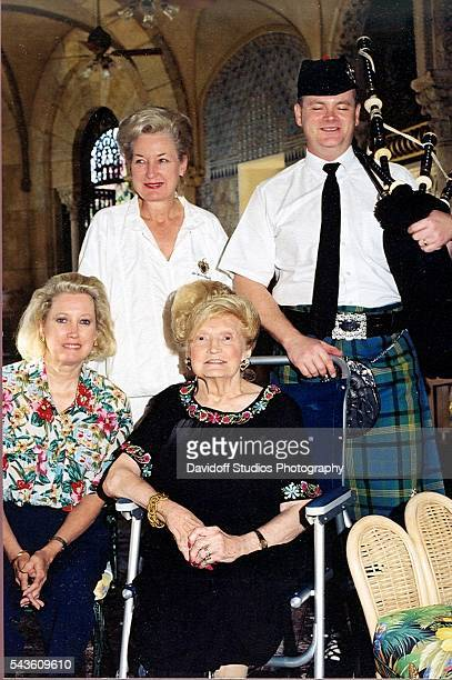 Group portrait of from left American banker Elizabeth Trump Grau judge Maryanne Trump Barry and their mother Mary Trump along with an unidentified...