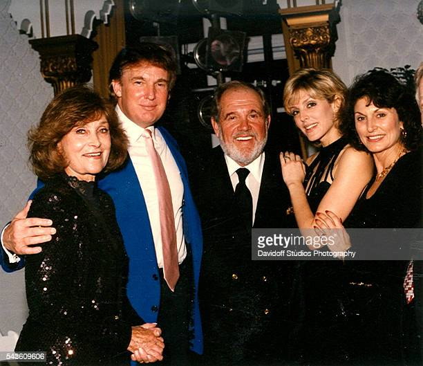 Group portrait of from left Jeanette King businessman Donald Trump King's husband comedian Alan King Trump's wife Marla Maples and Maples' mother...