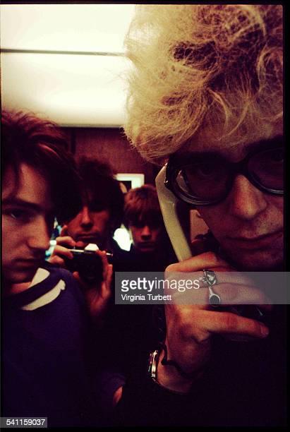 Group portrait of Irish rock band U2 Belgium 18 October 1980 LR Bono The Edge Larry Mullen Jnr Adam Clayton