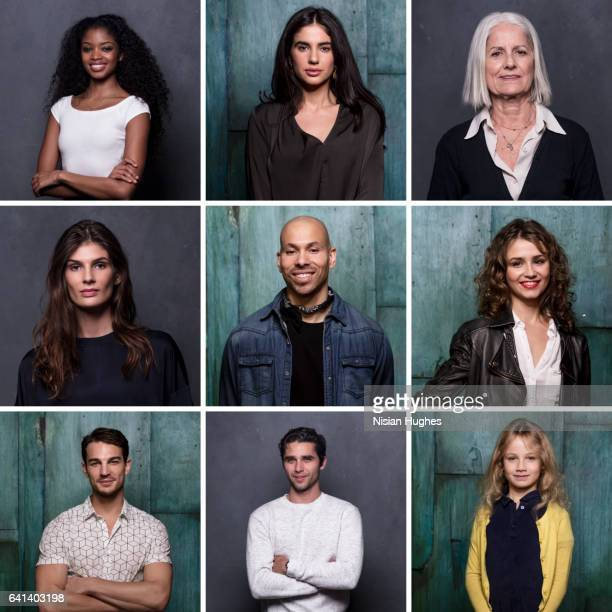 Group portrait of men and women of different ages and ethnicities